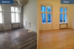 Old building renovation room after before