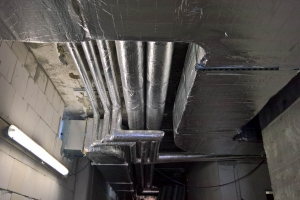Office building heating pipes