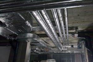 Office building heating system